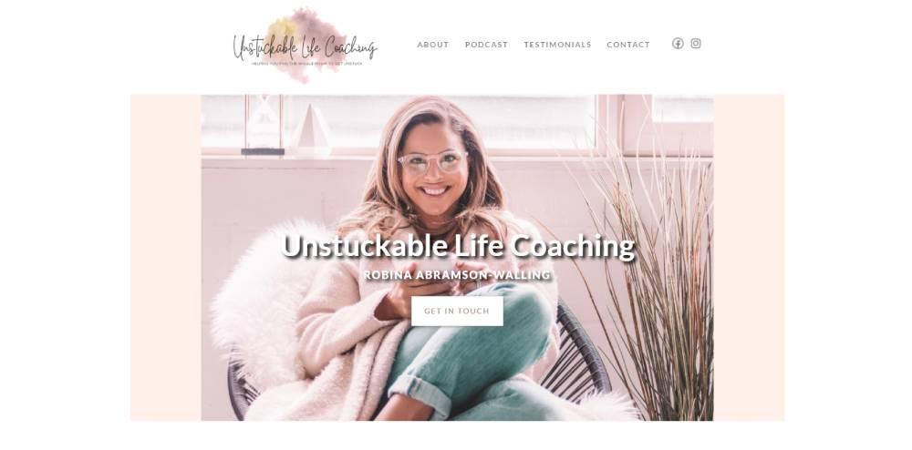 Screenshot of The Unstuckables Homepage