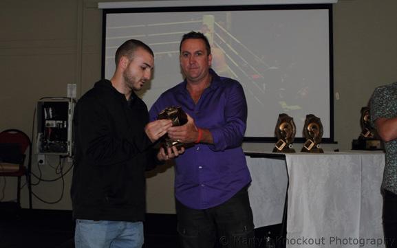 Joel Camilleri and ABF Chairman of Awards Mr Jeff Eddy