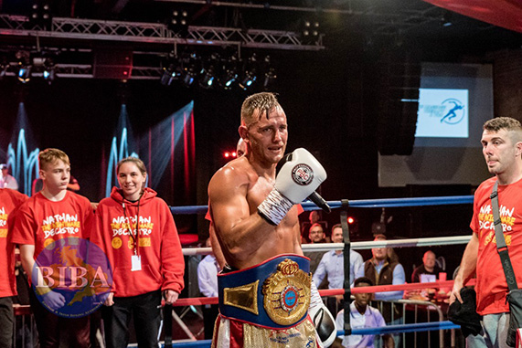 Nathan Decastro has been crowned WBF World Super Middleweight Champ