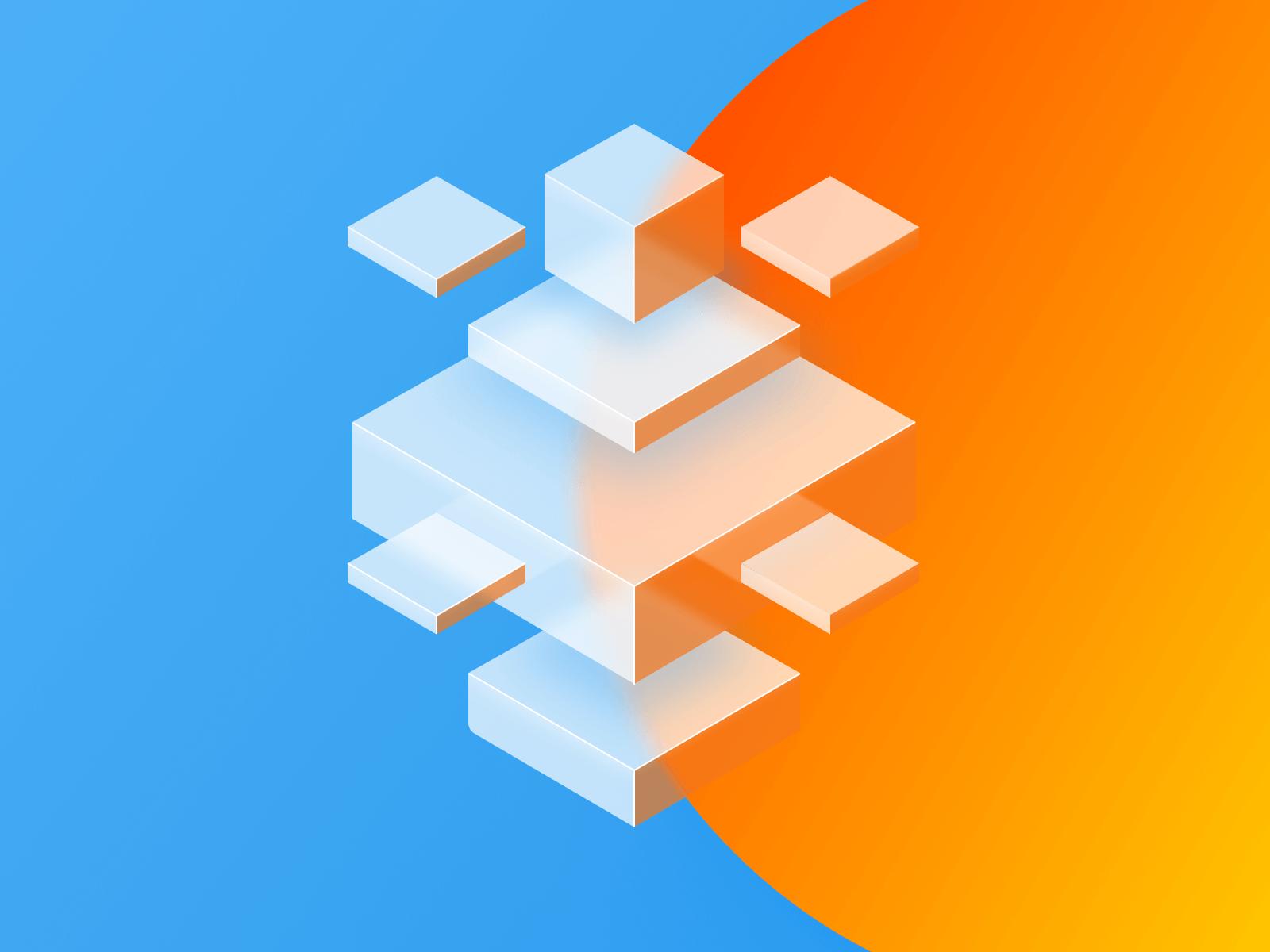 3d element cubes