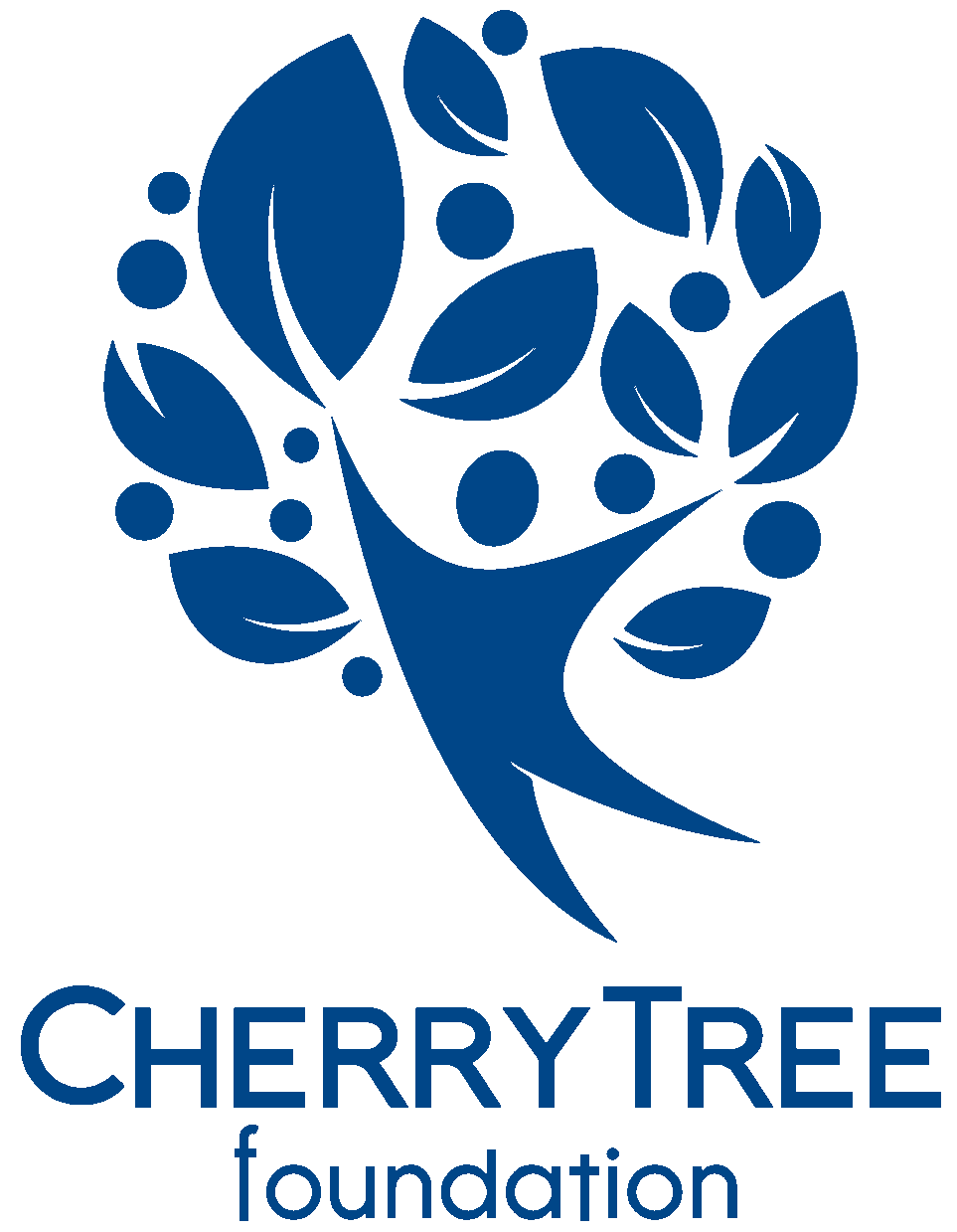 CherryTree Foundation logo of an illustrated figure and a tree