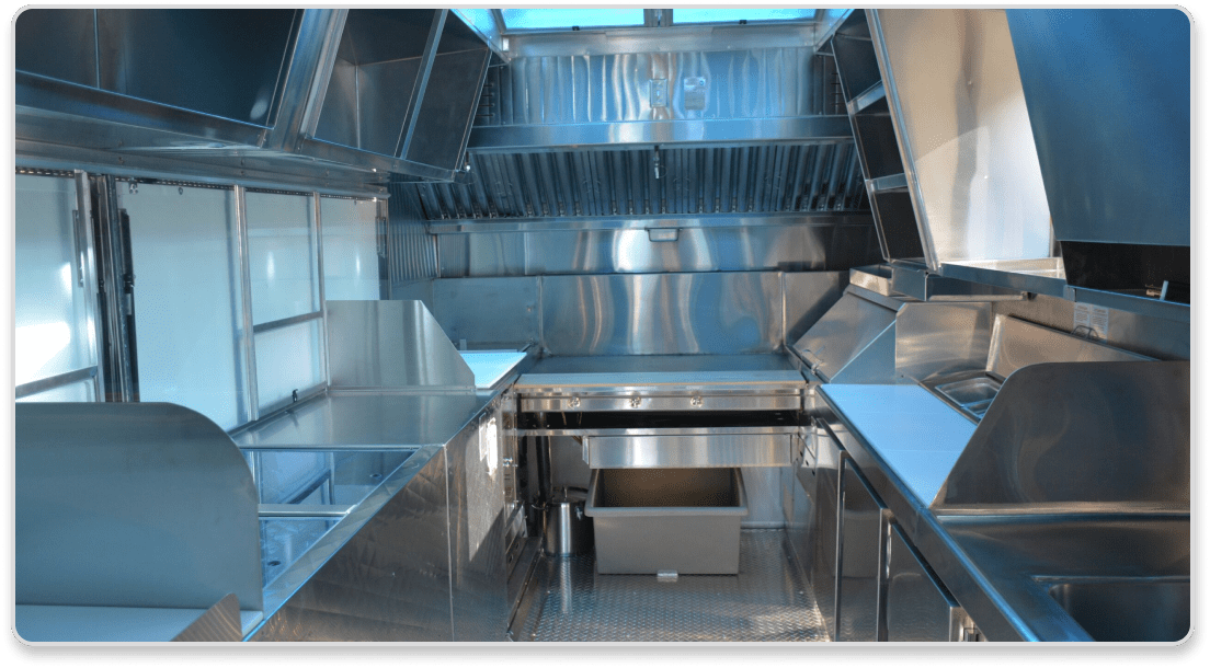 Inside of the On The Go LA food truck