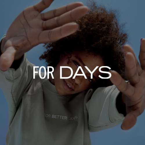 For Days For Better Days sweatshirt worn by model