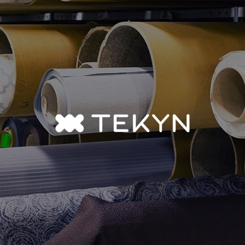Rolls of fabric in manufacturing plant for the textile industry