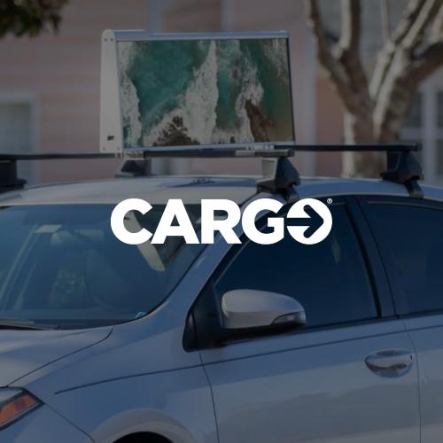 Cargo car top ad on Uber car