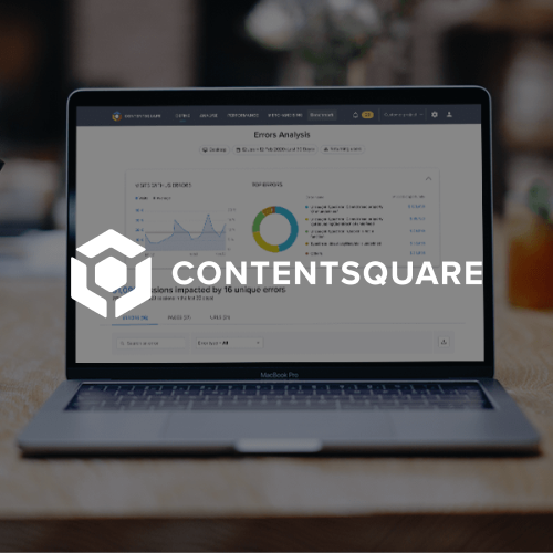 Contentsquare software on laptop screen