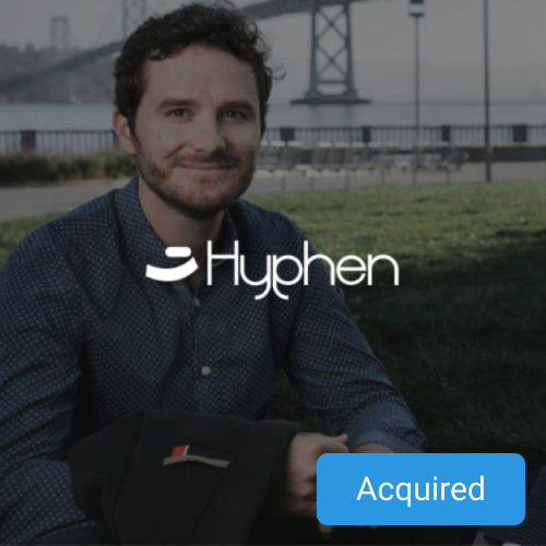 Hyphen co-founder portrayed in front of San Francisco bridge.