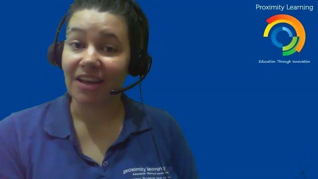 Amanda Cope teaches in virtual learning environment