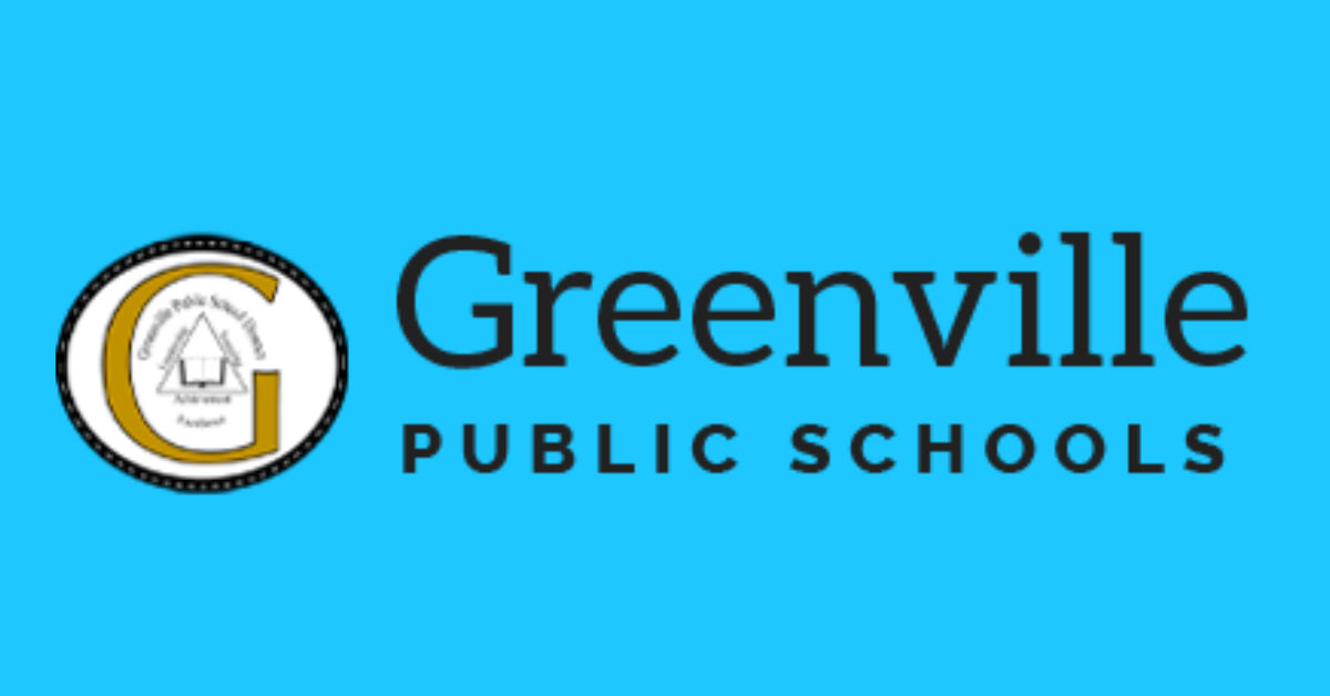 Greenville Public Schools logo with a gold G.