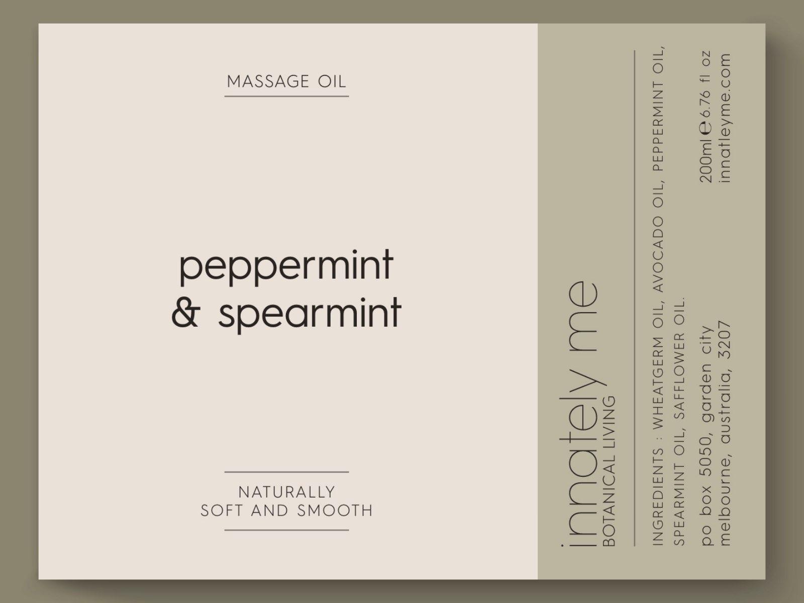 peppermint spearmint label design