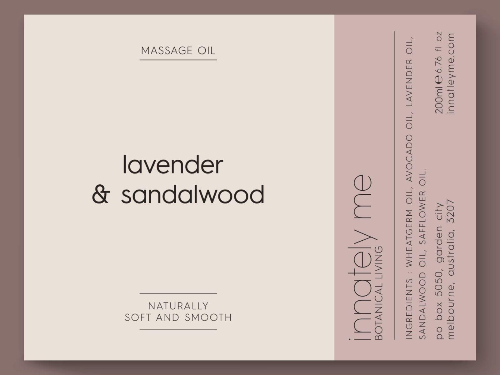 lavender sandalwood label design