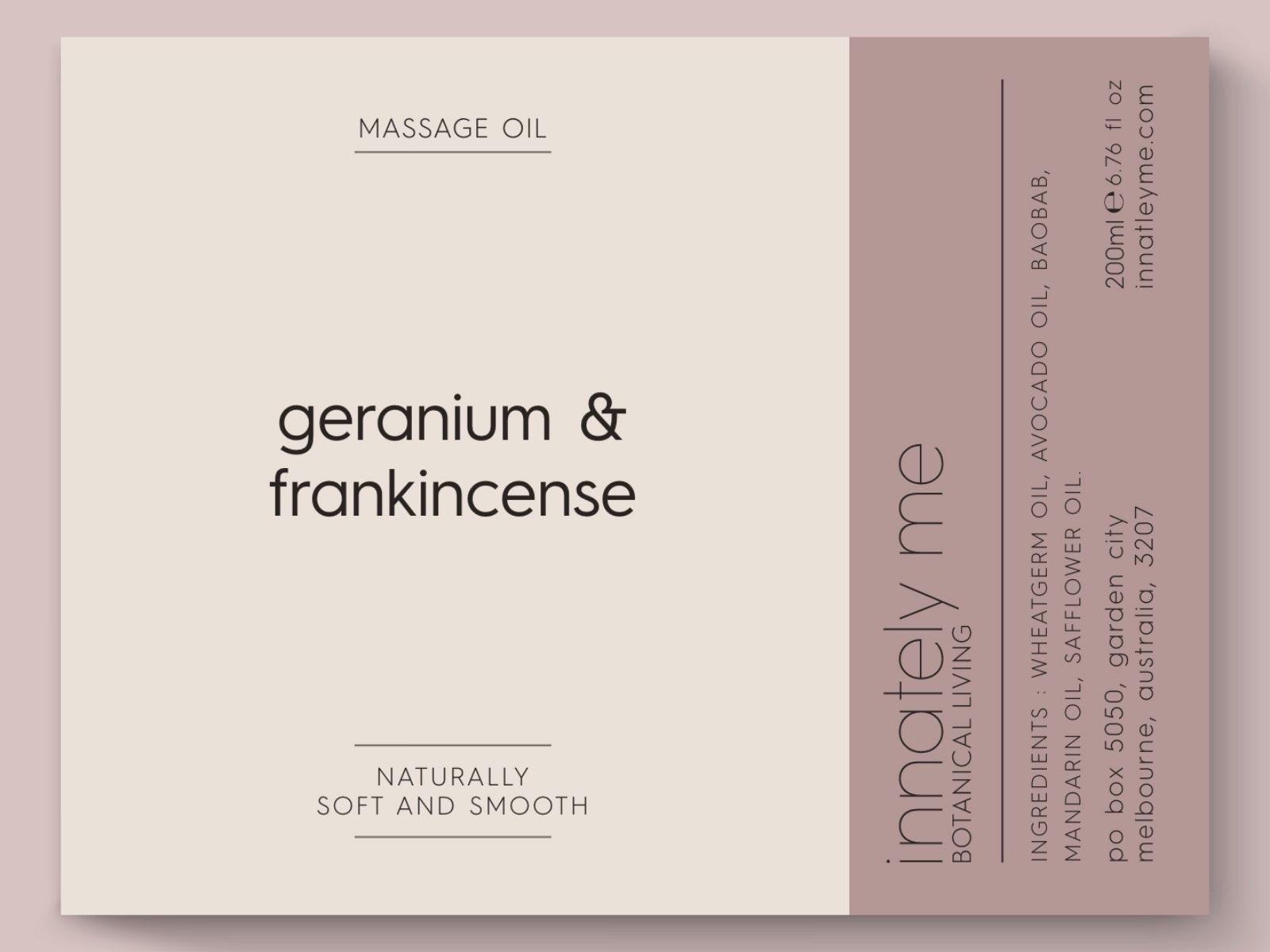 geranium frankincense label design