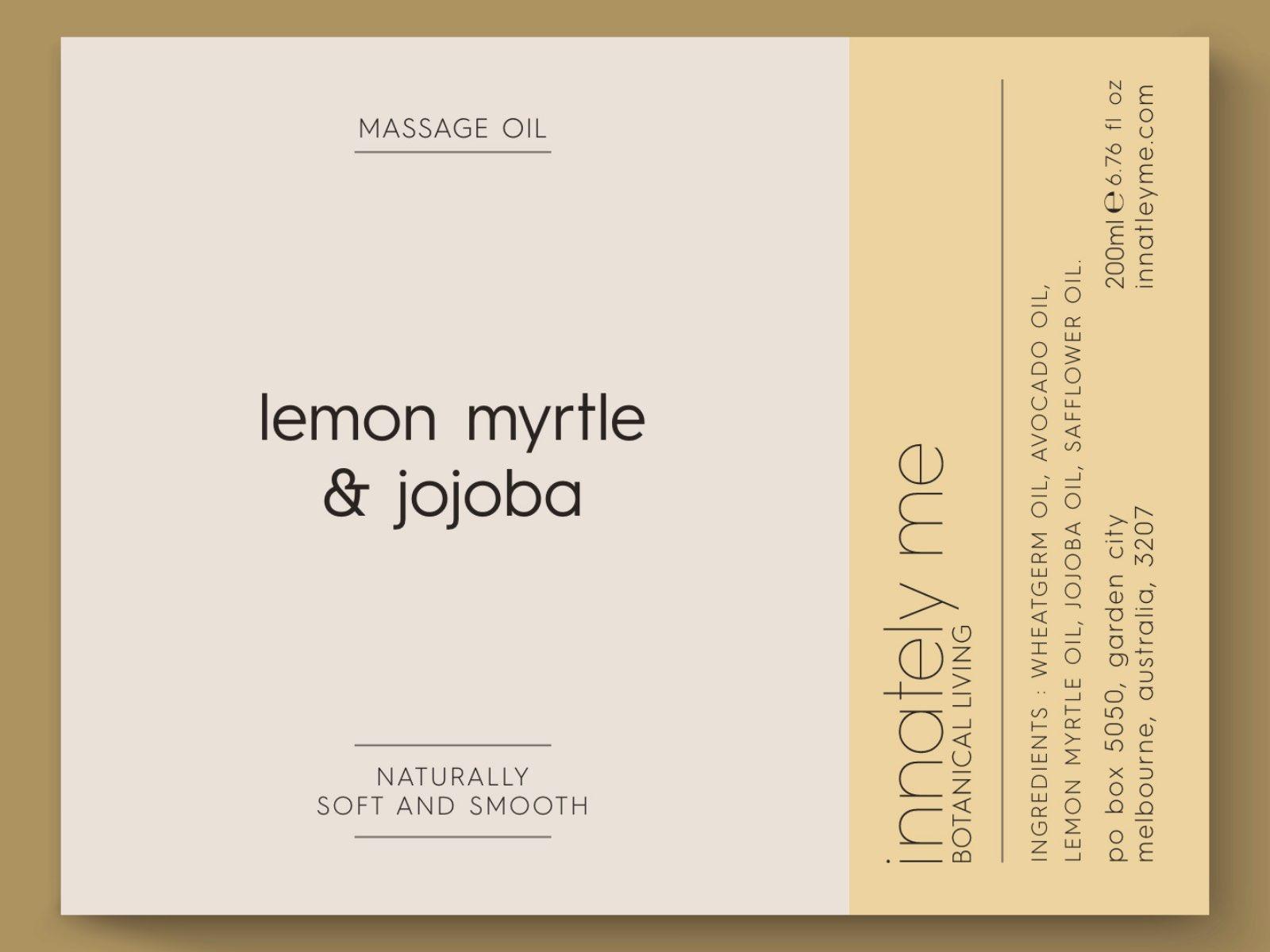 lemon myrtle jojoba label design