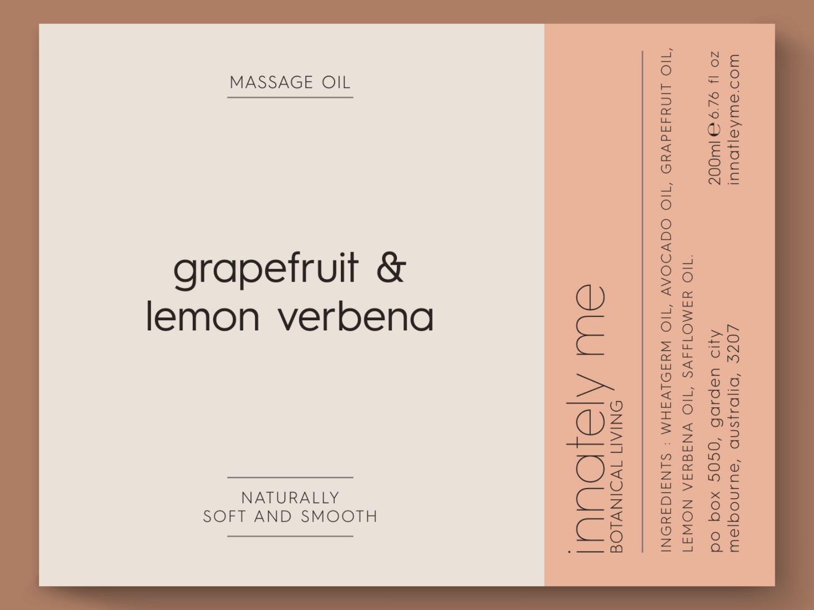grapefruit lemon verbena label design