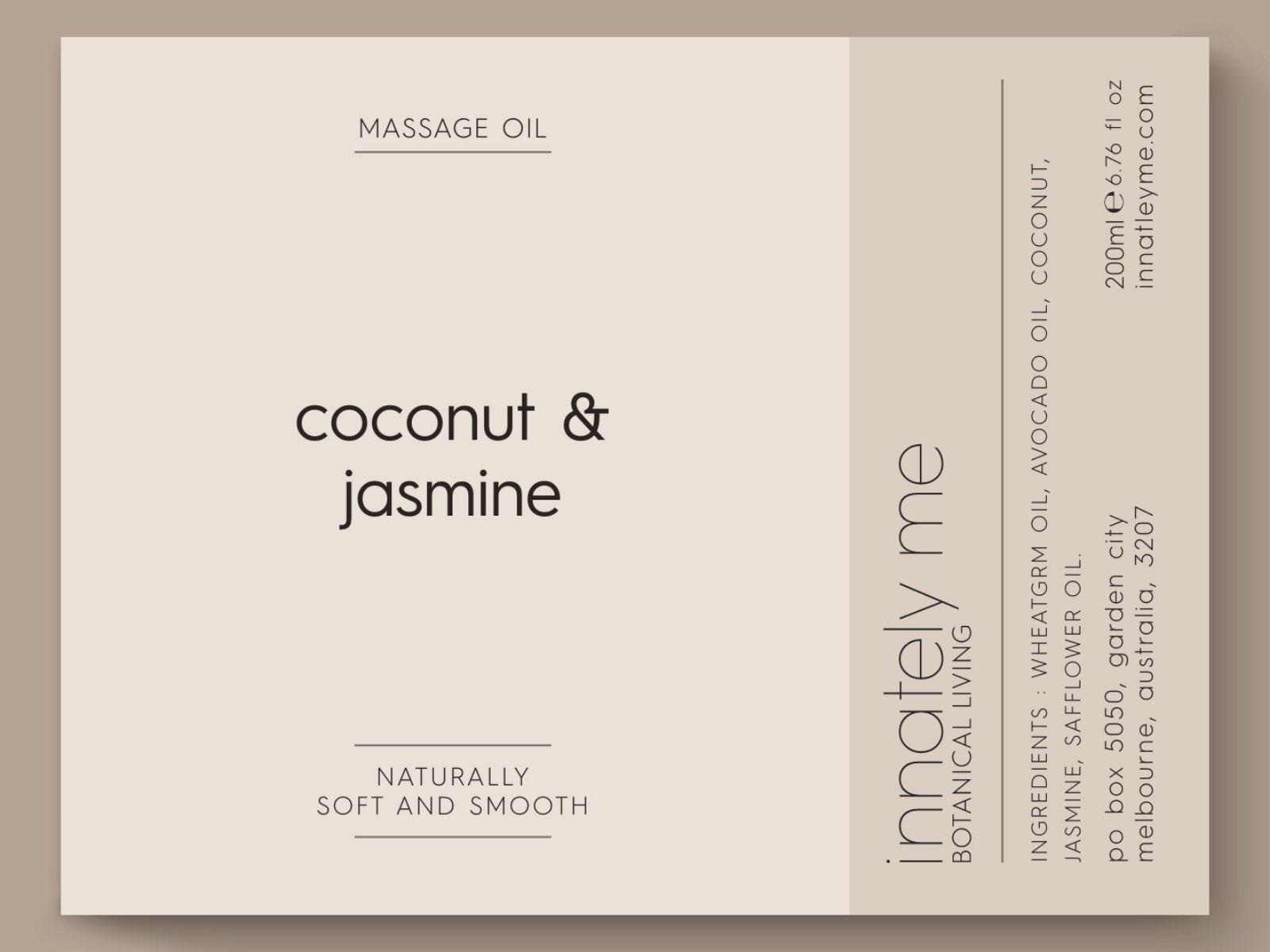 Coconut jasmine label design
