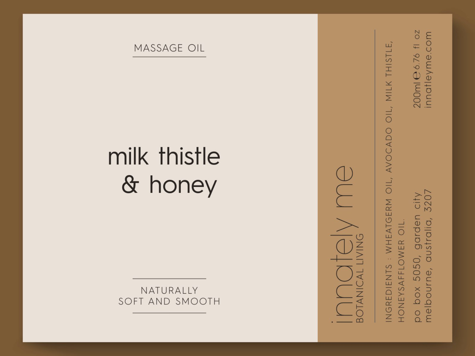 milk thistle honey label design