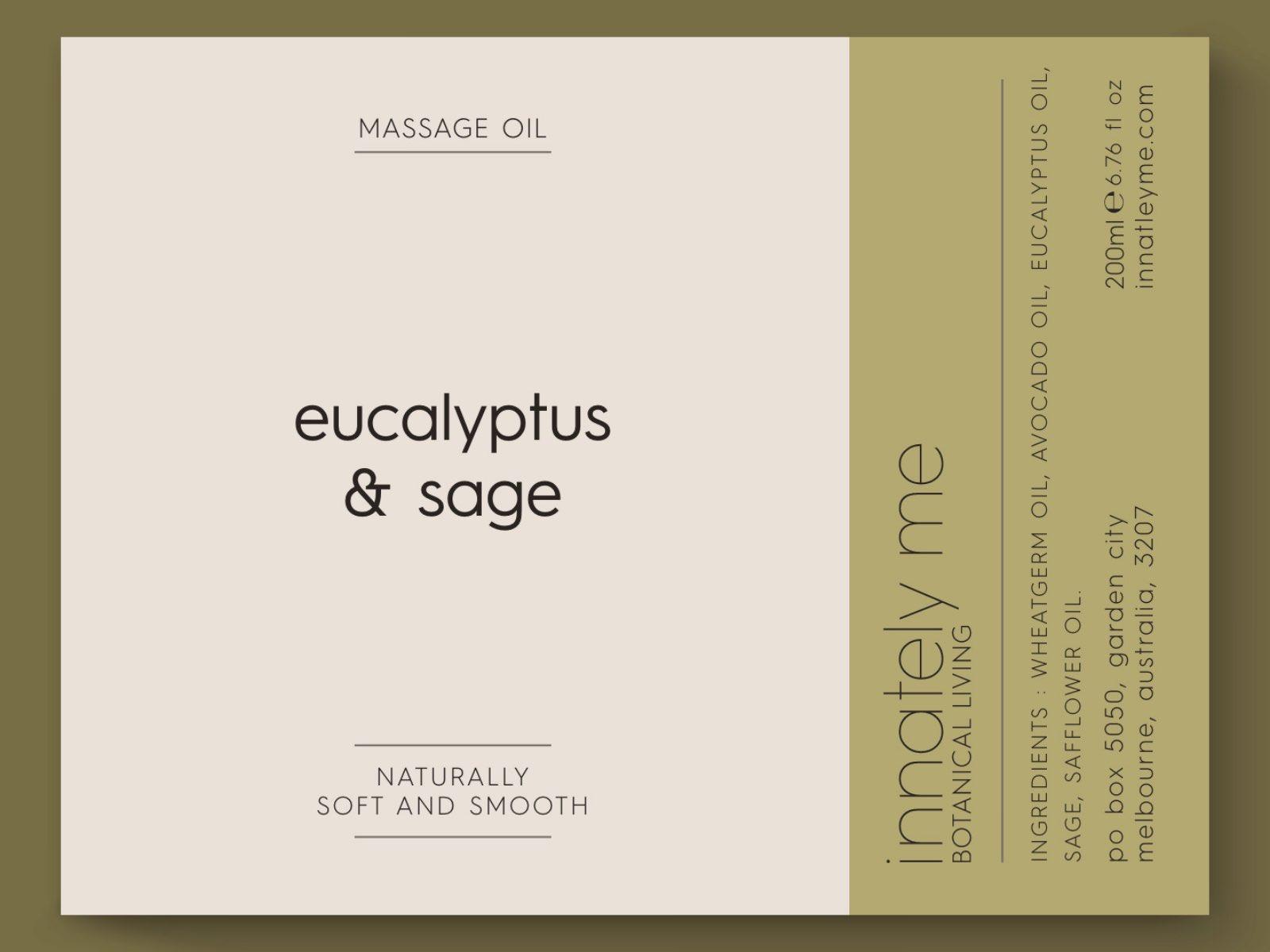 eucalyptus sage label design