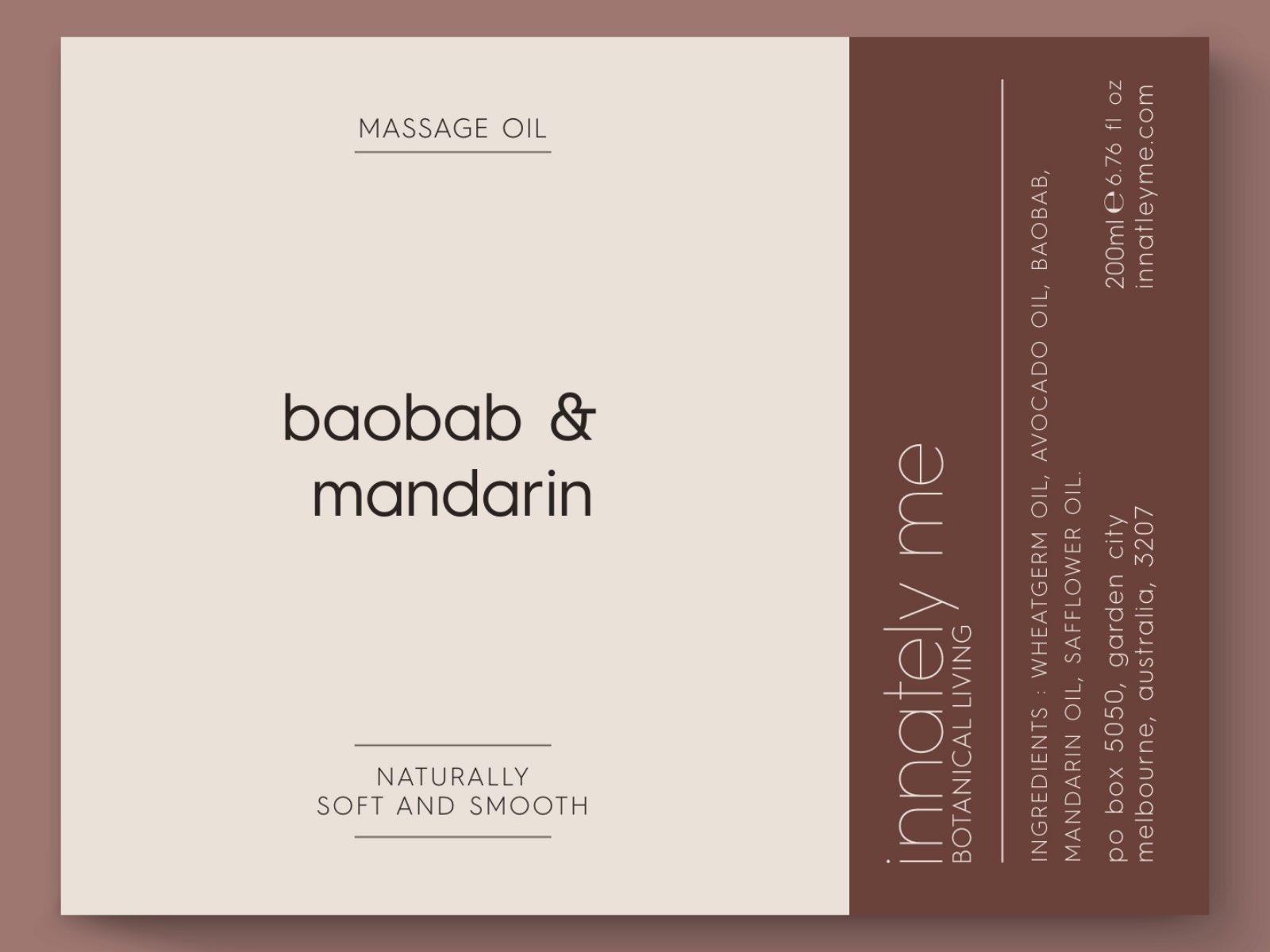 Baobab mandarin label design