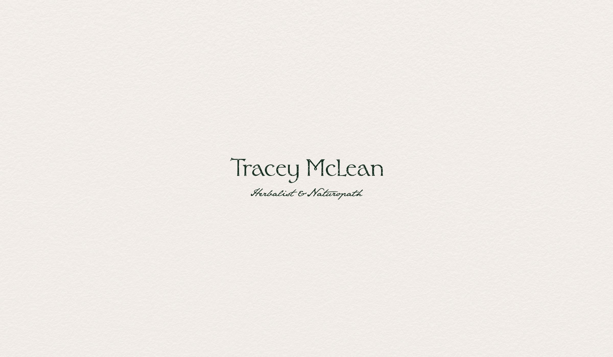 Tracey McLean text logo