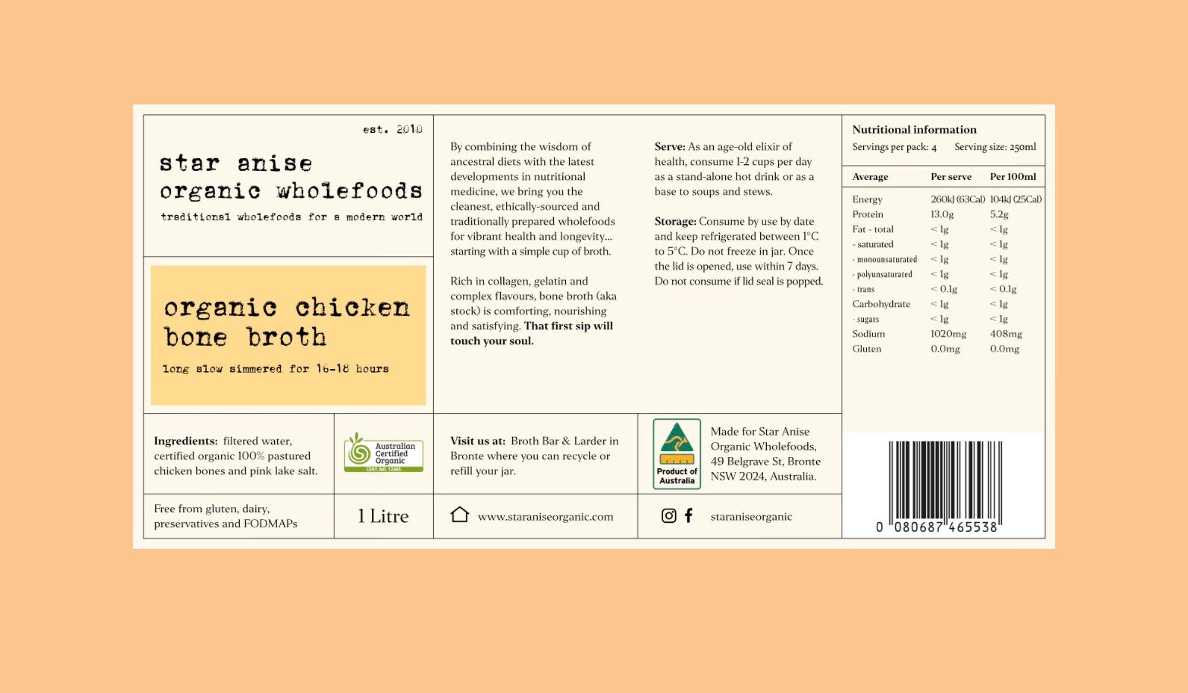 Star Anise Organics label design