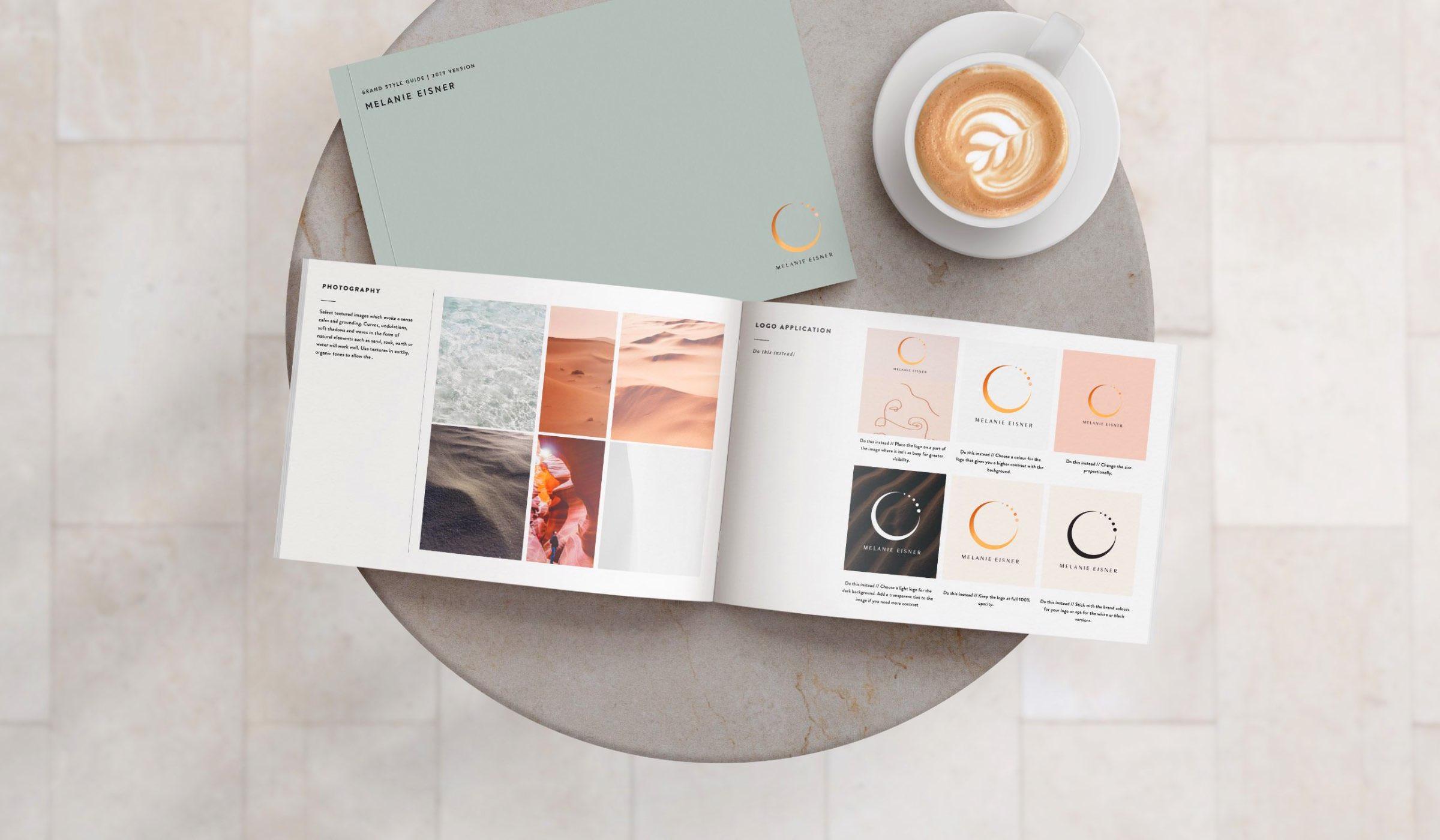 Melanie Eisner brand style guide