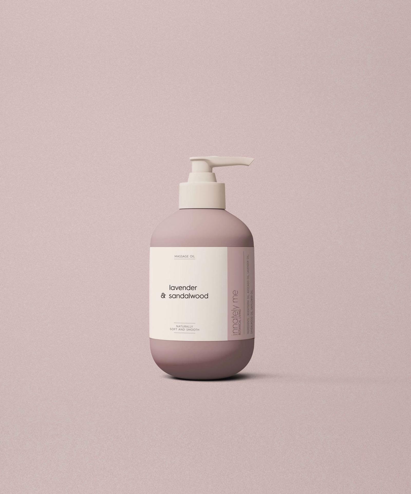 Lavender sandalwood packaging design