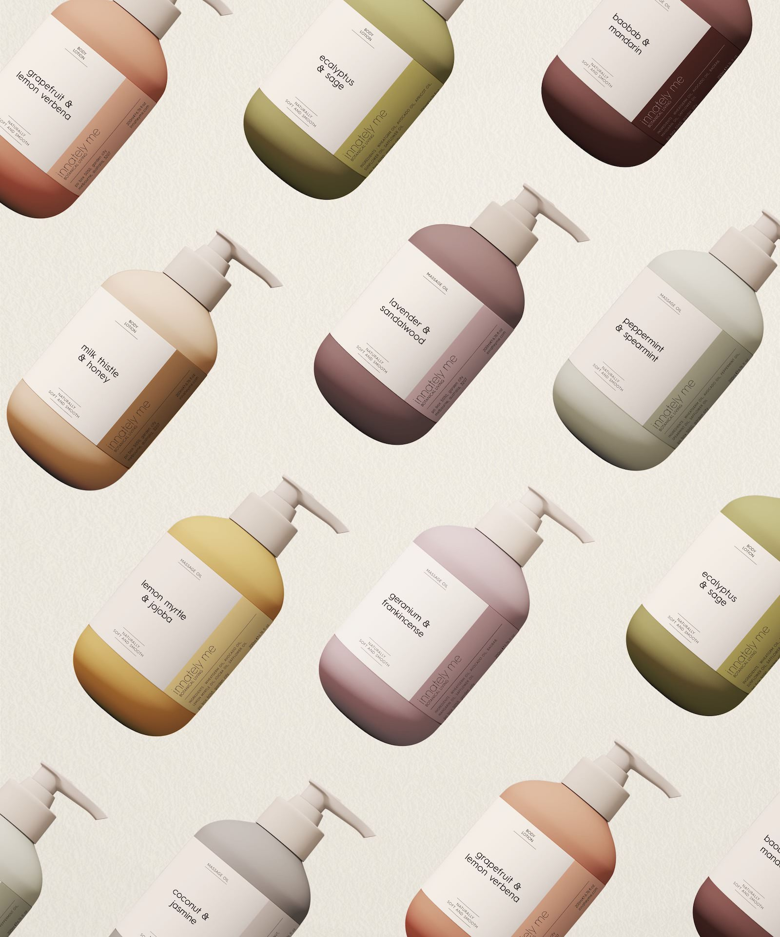 Innately Me bottle packaging design