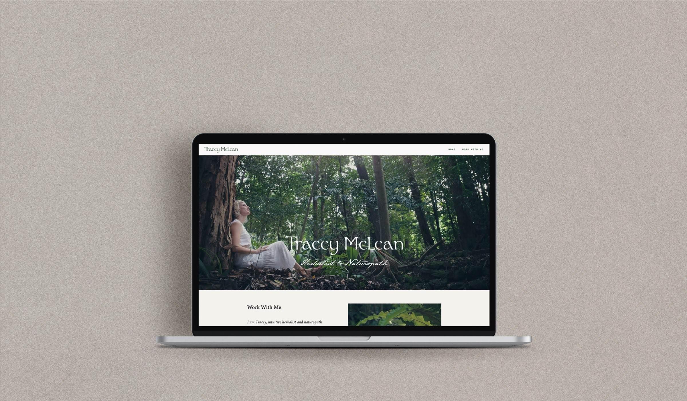 Tracey McLean website design