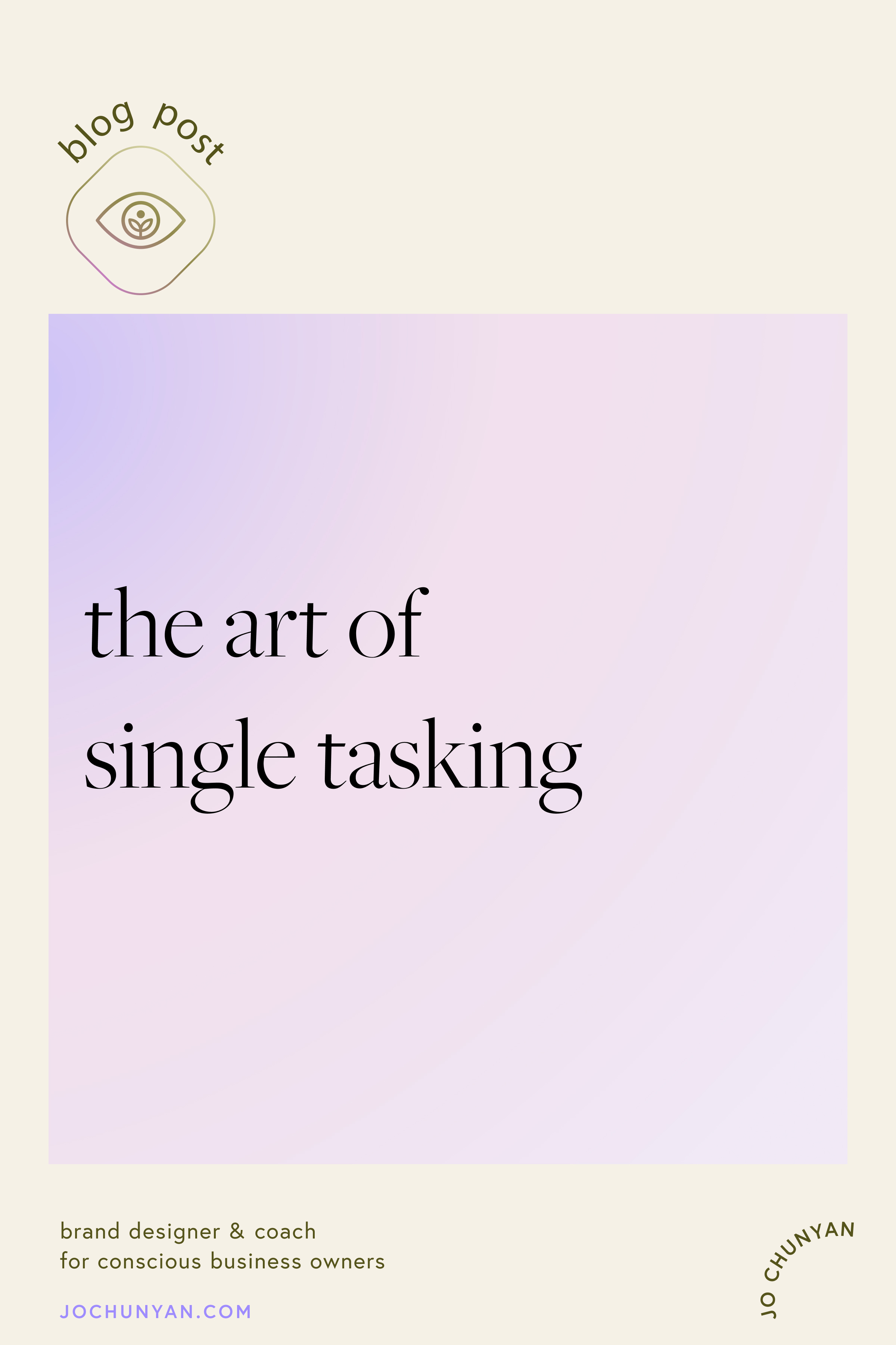 The art of single tasking