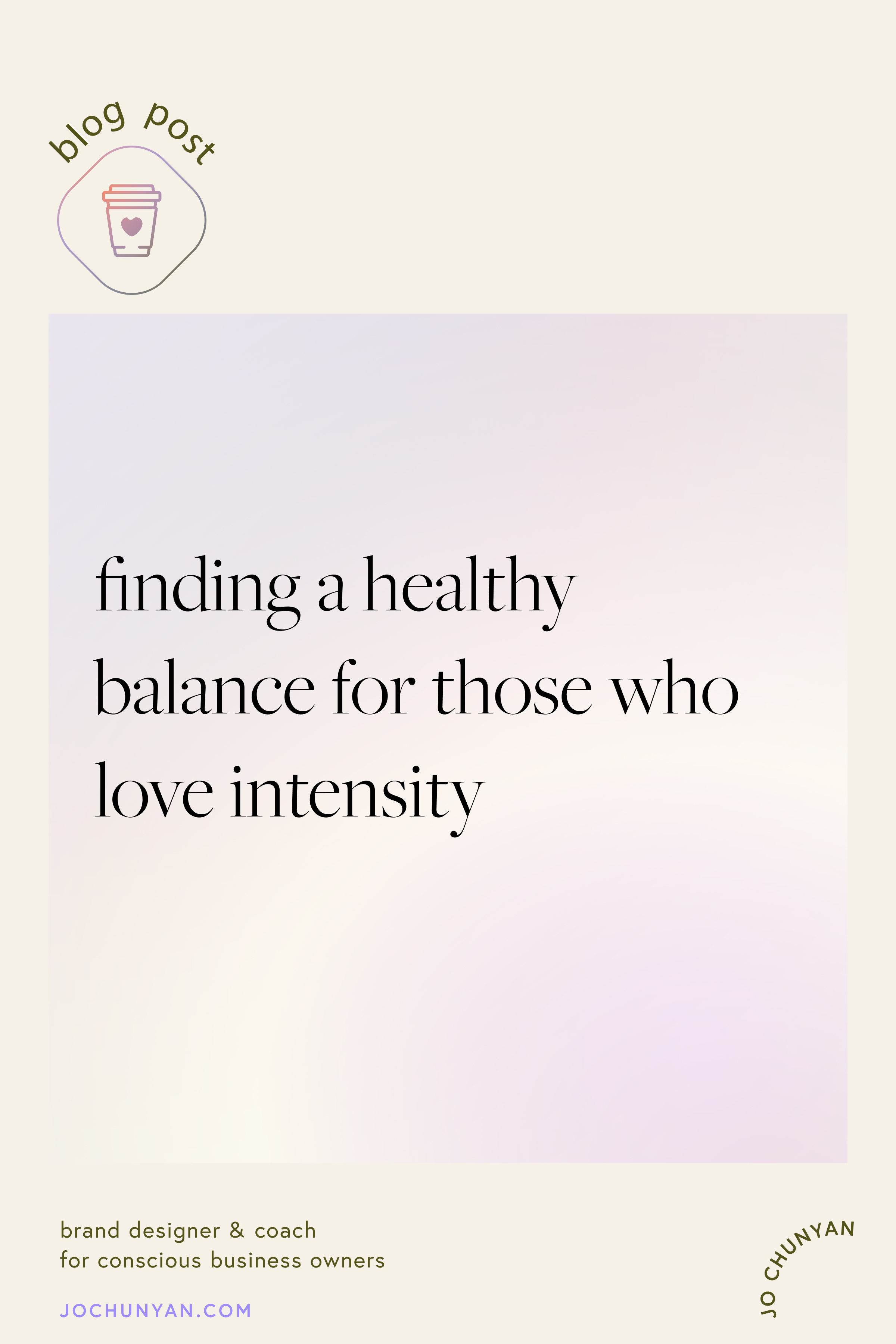 Finding a healthy balance for those who love intensity