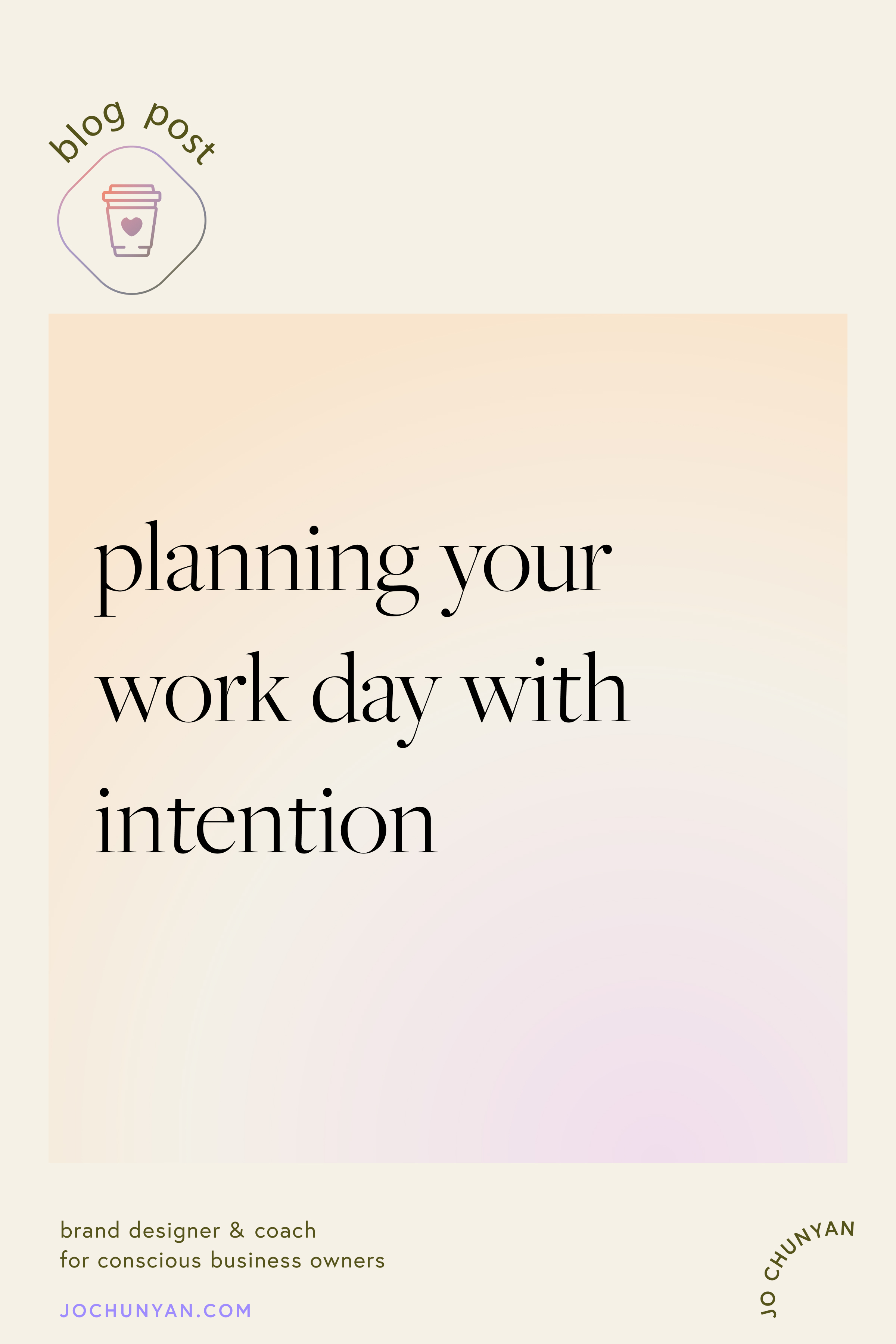 Planning your work day with intention