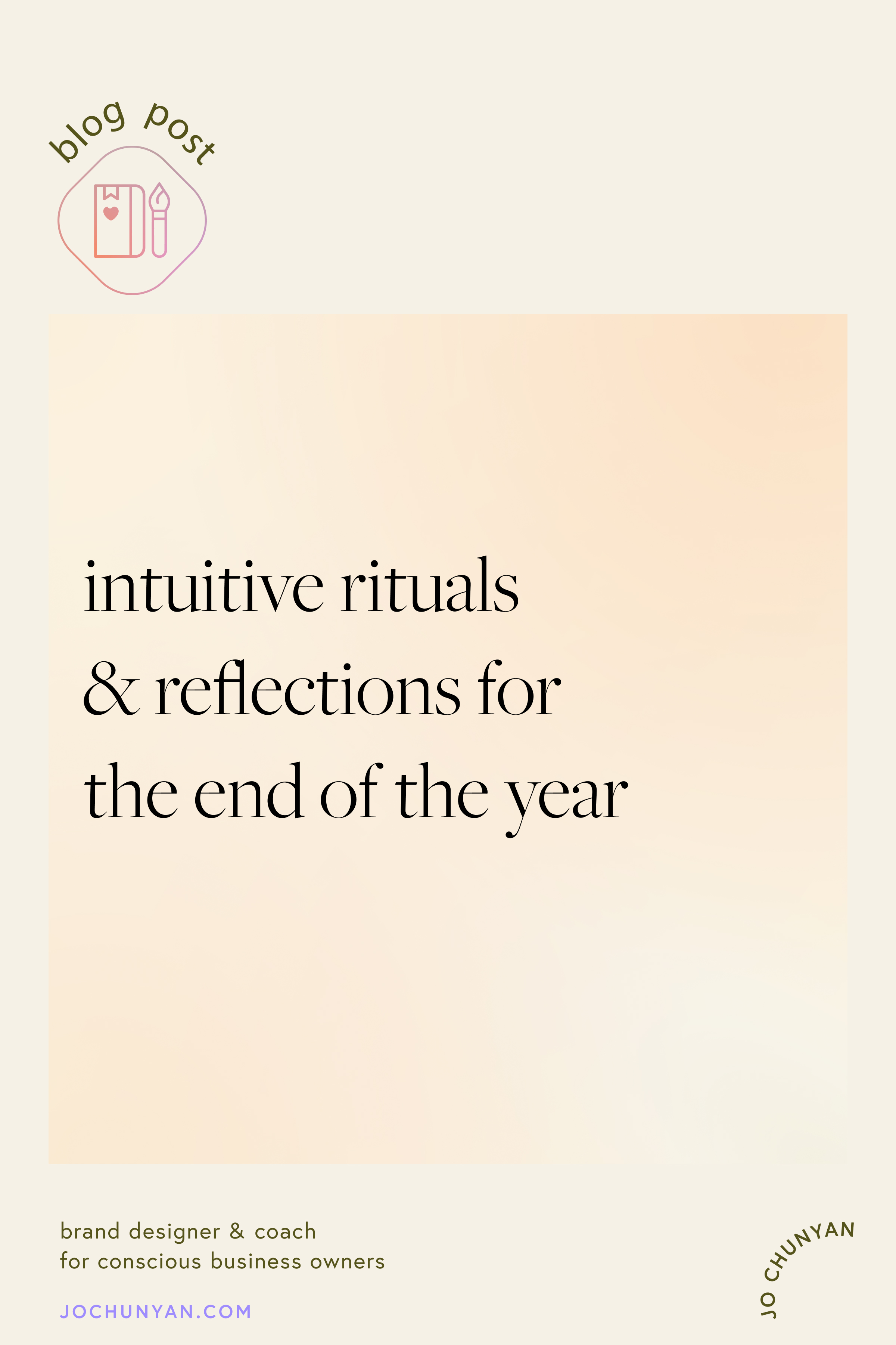 Intuitive rituals and reflections for the end of the year
