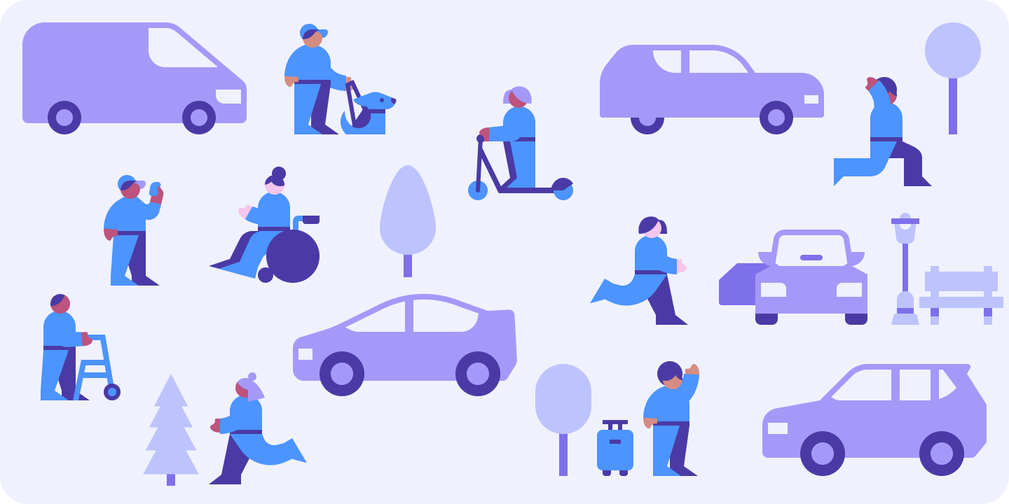Lyft's driver learning platform needed a modular, comprehensive illustration system to educate drivers and keep them on the platform, and could support animation.