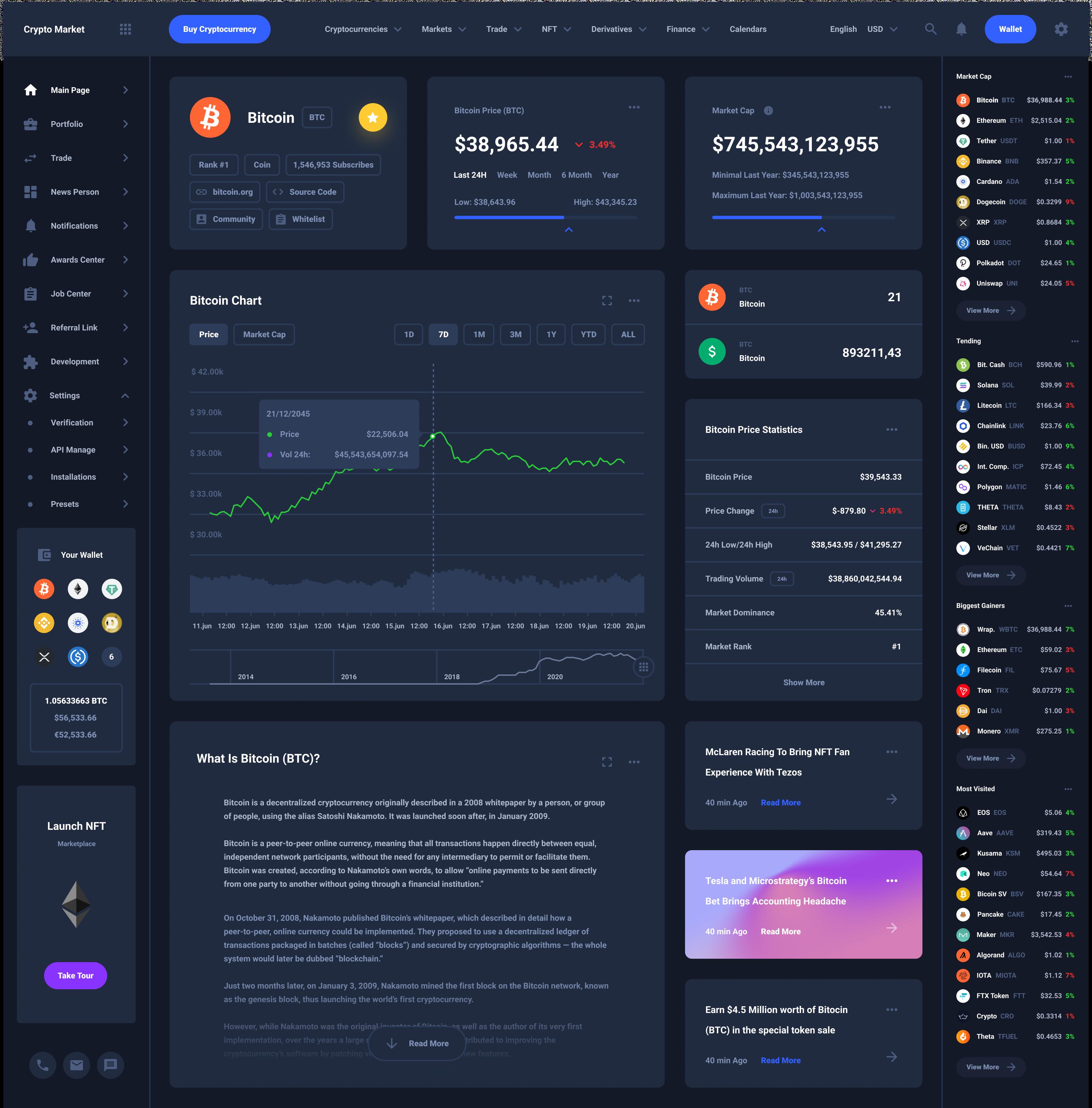 Crypto One Profile Download Tempalte