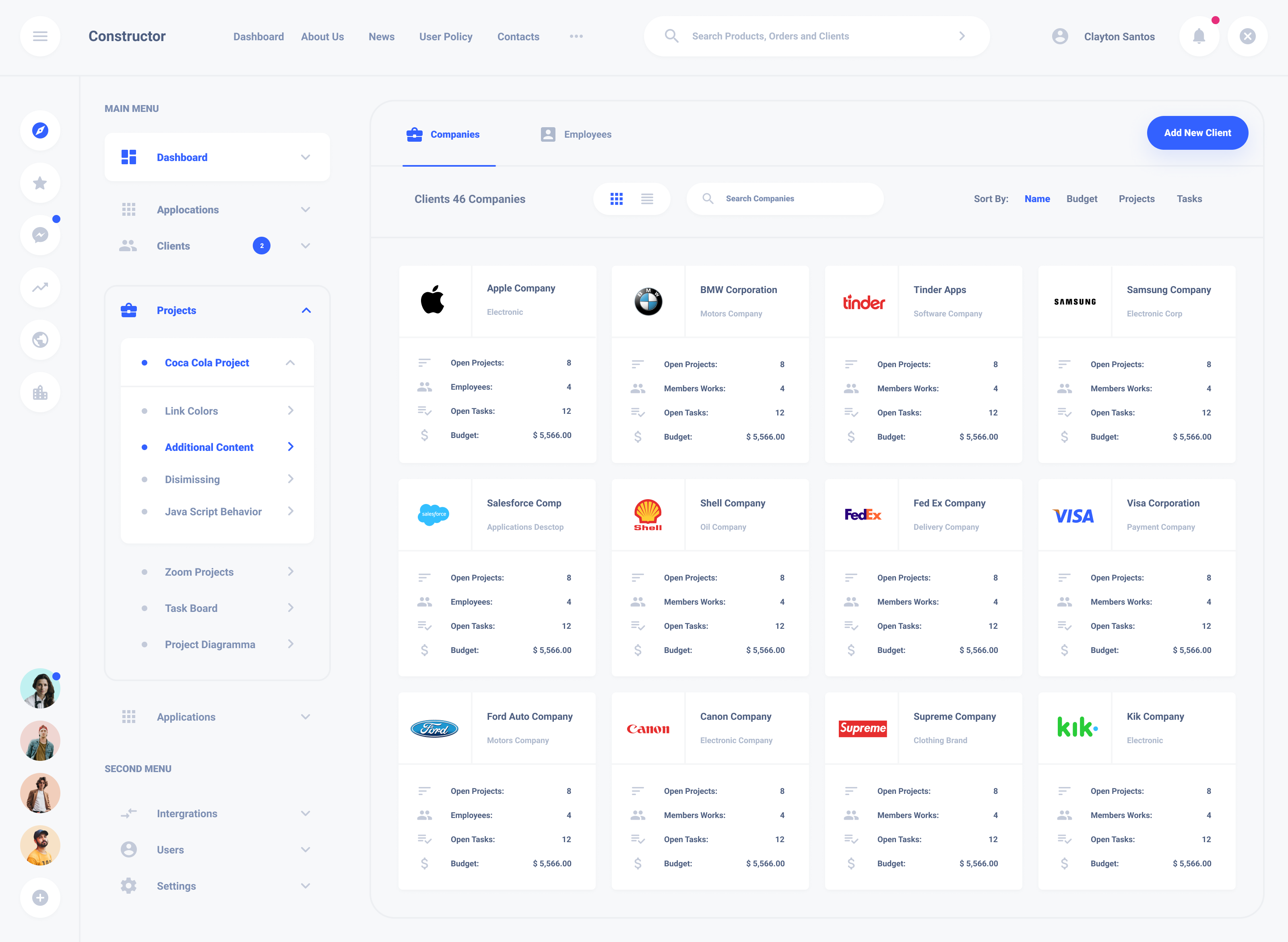 Clients Dashboard Templates