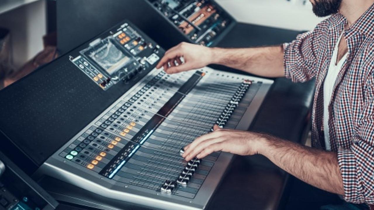 A mixing desk