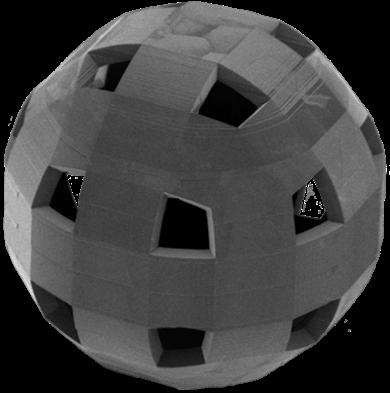 Assembled black Catom shell