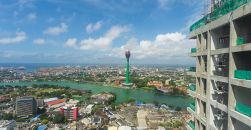 Colombo Lotus tower View from the Top of Capitol TwinPeaks