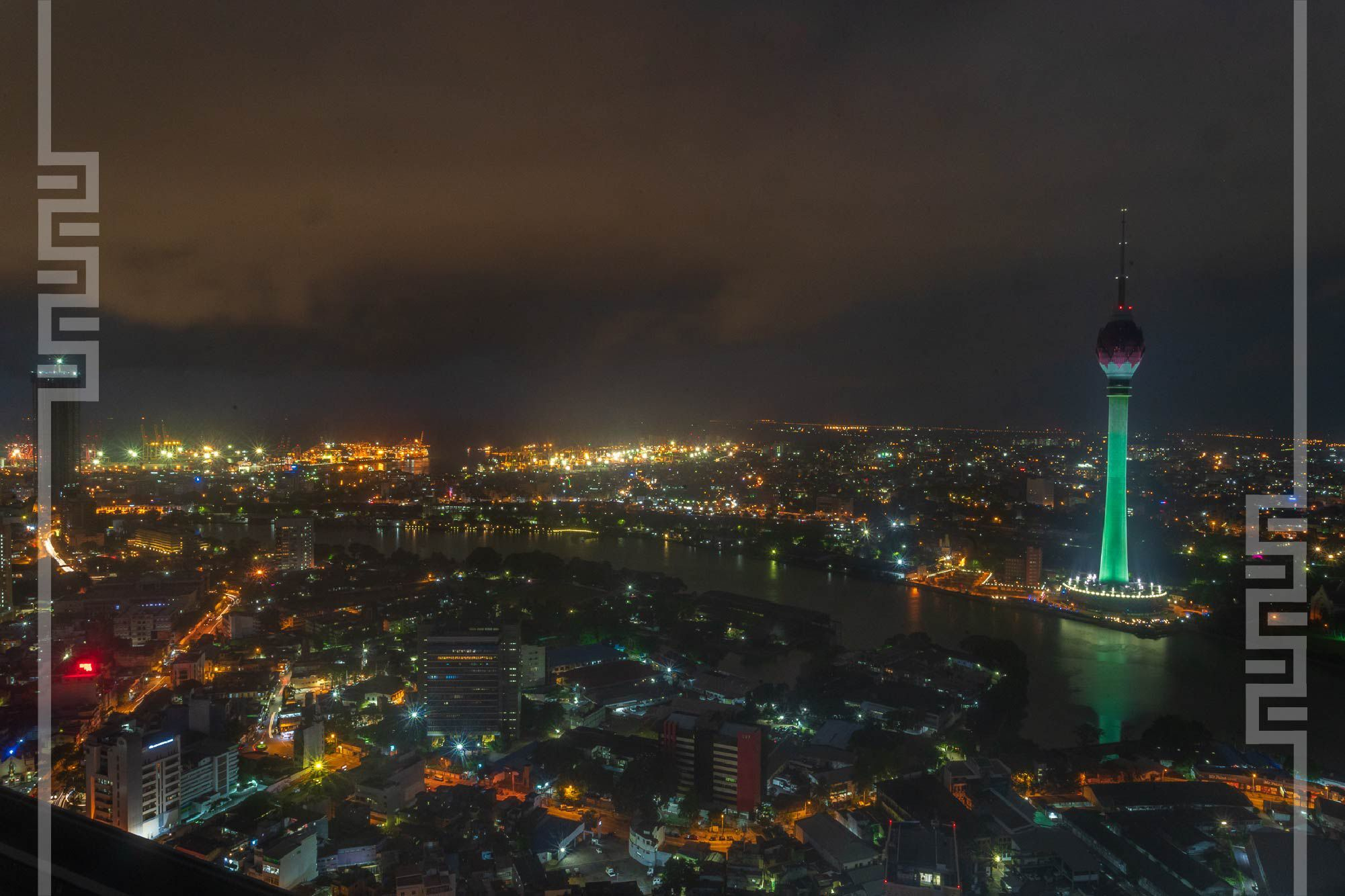 Colombo Night City View