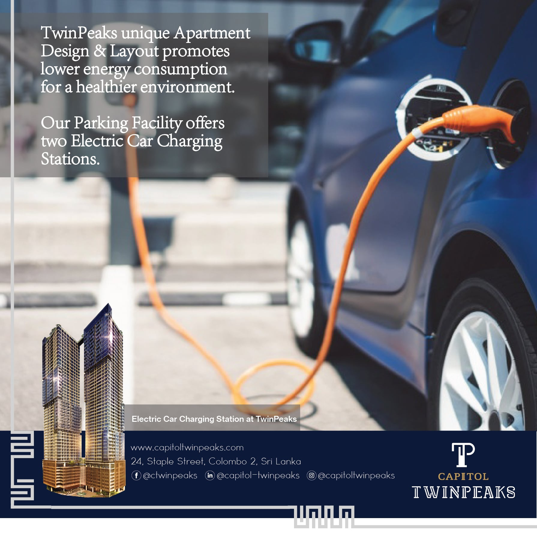 Electric Charging Port at Capitol TwinPeaks Colombo