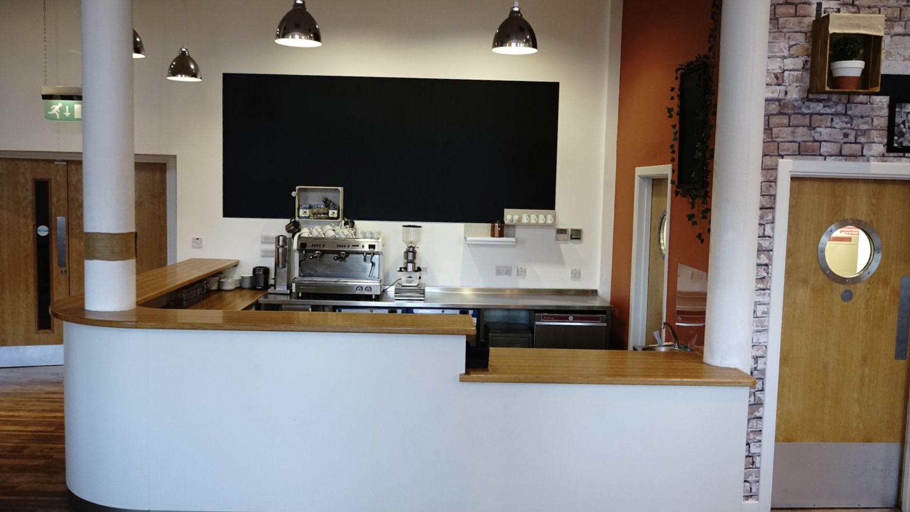 bar and walkway area