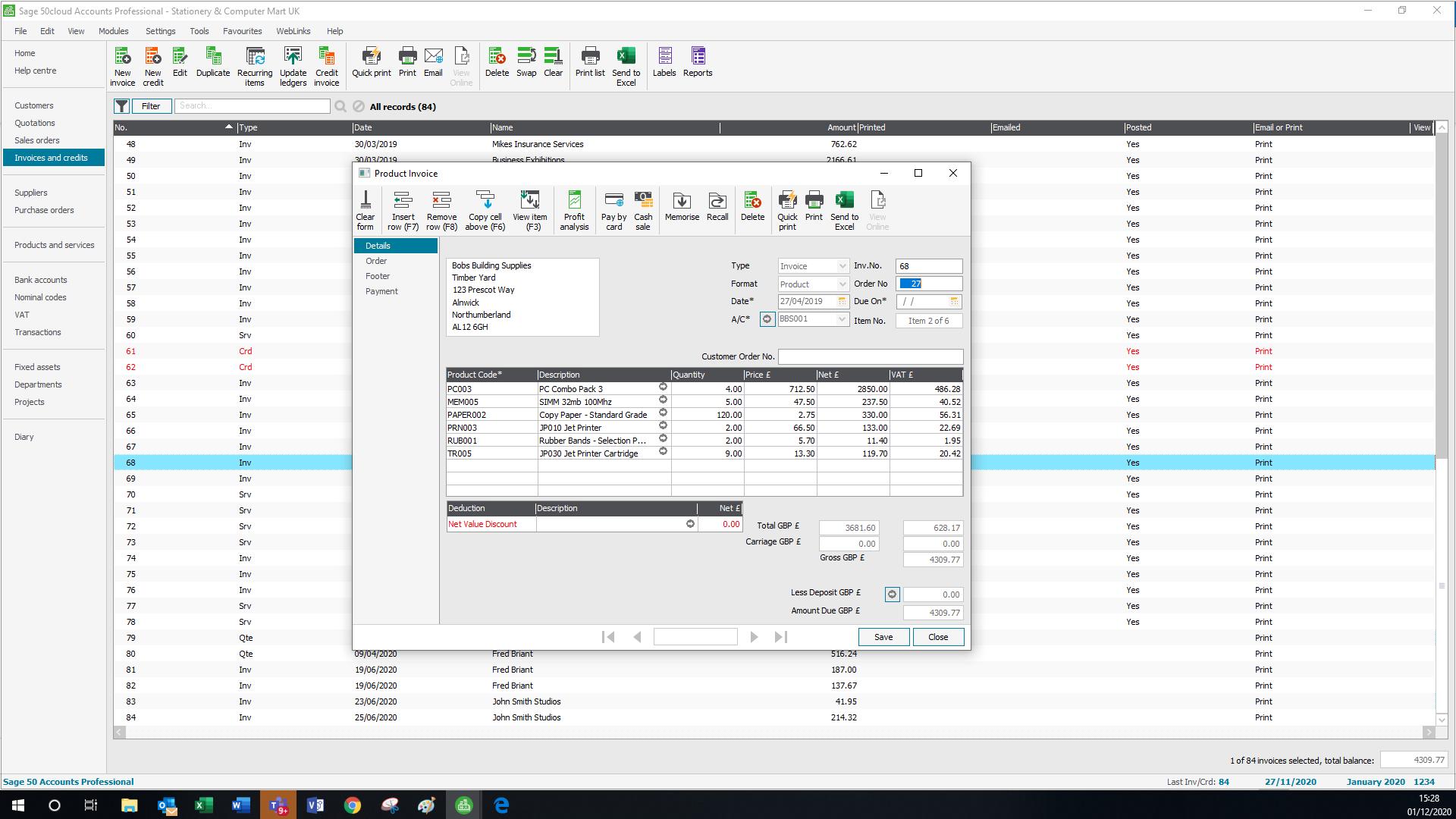 Sage50 Cloud UK Screenshot