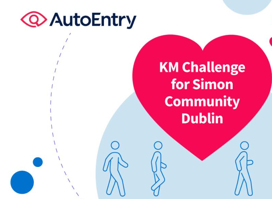 Logo for kilometre challenge charity initiative