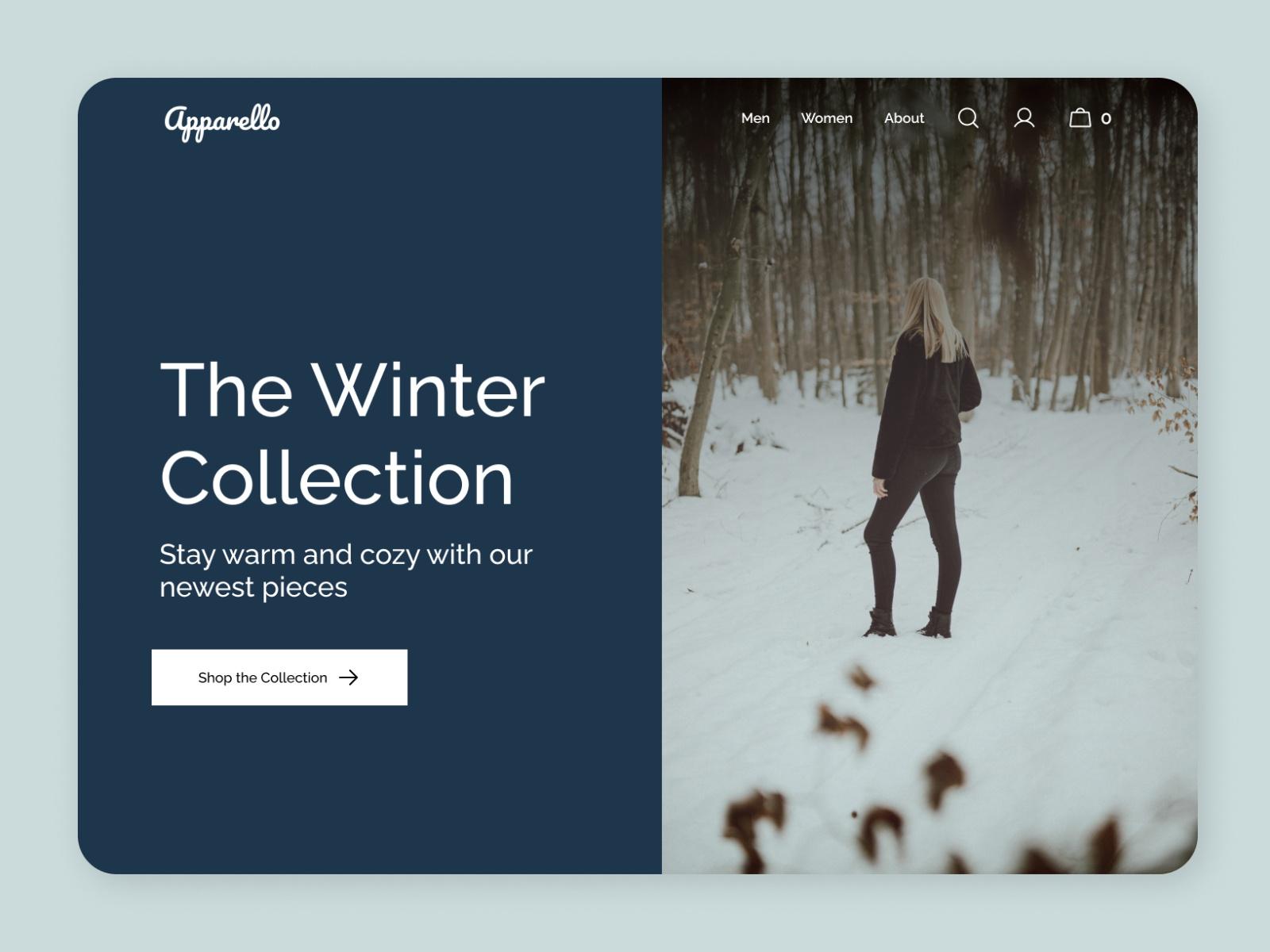 Winter Clothing Store Hero
