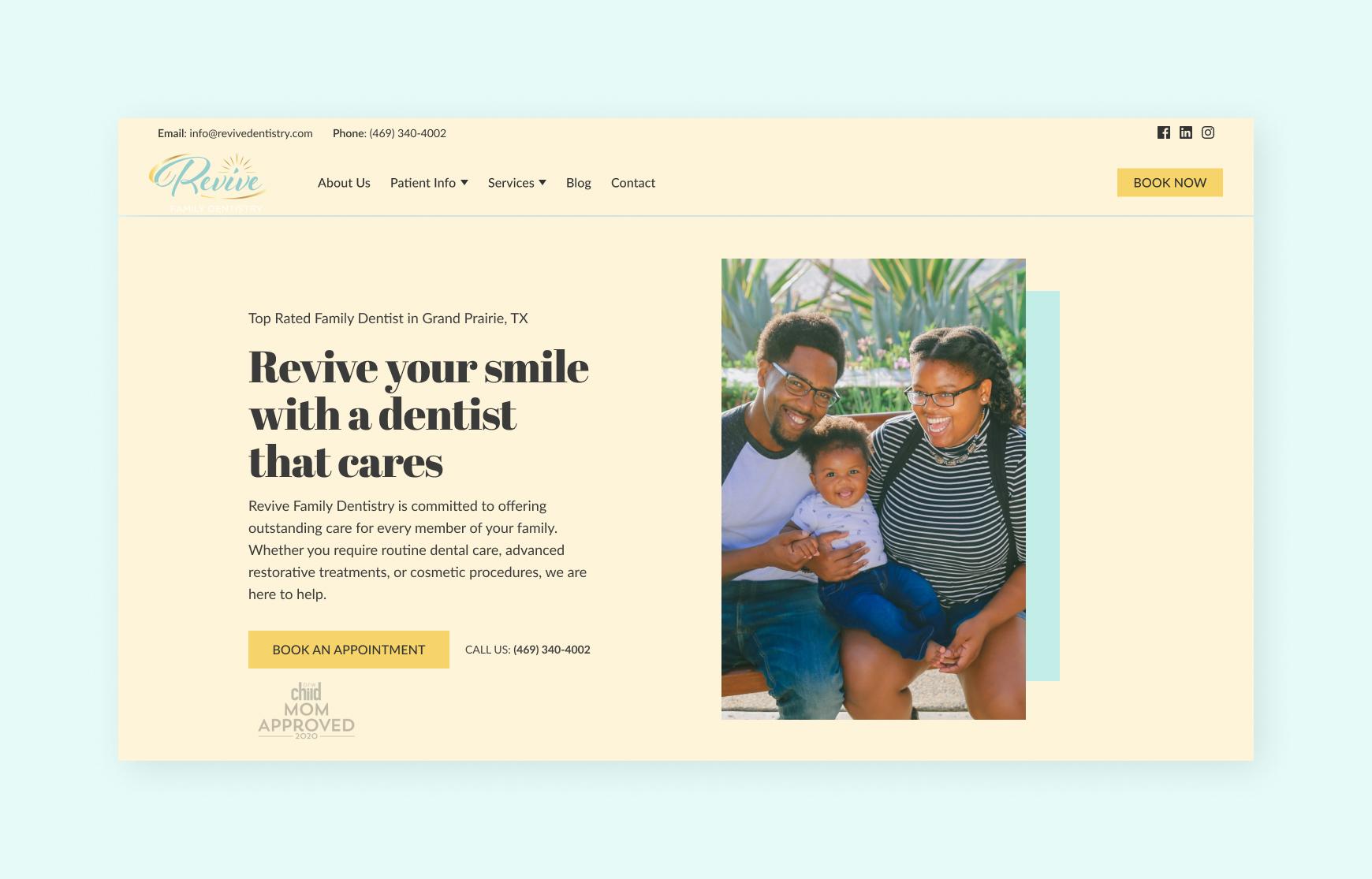 Dentist Website Redesign Concept