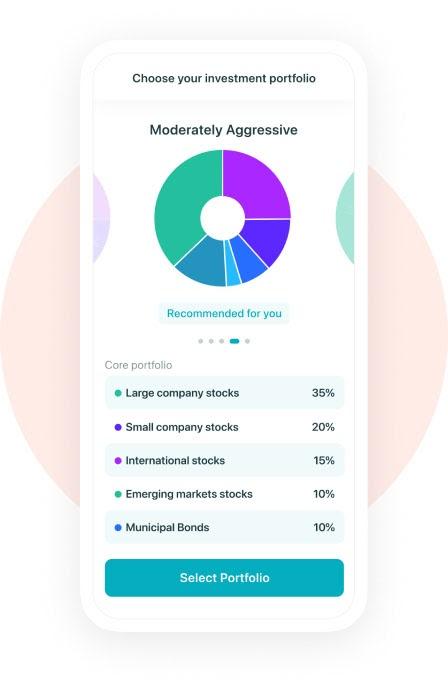 Diversified portfolio, moderately aggressive