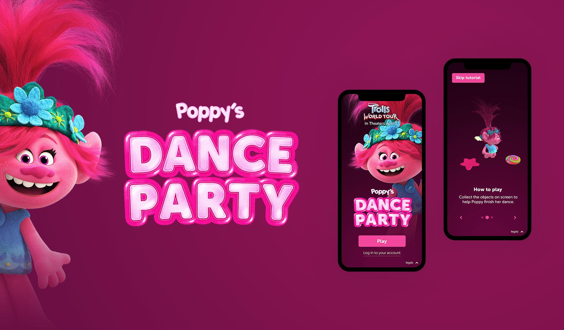 Poppy title design and branding