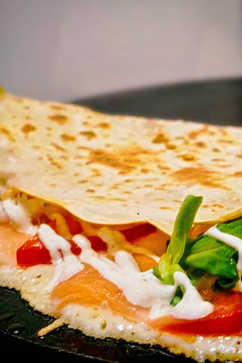Sucre & Salé, le concept crêpe ! Salade, légumes, saumon.