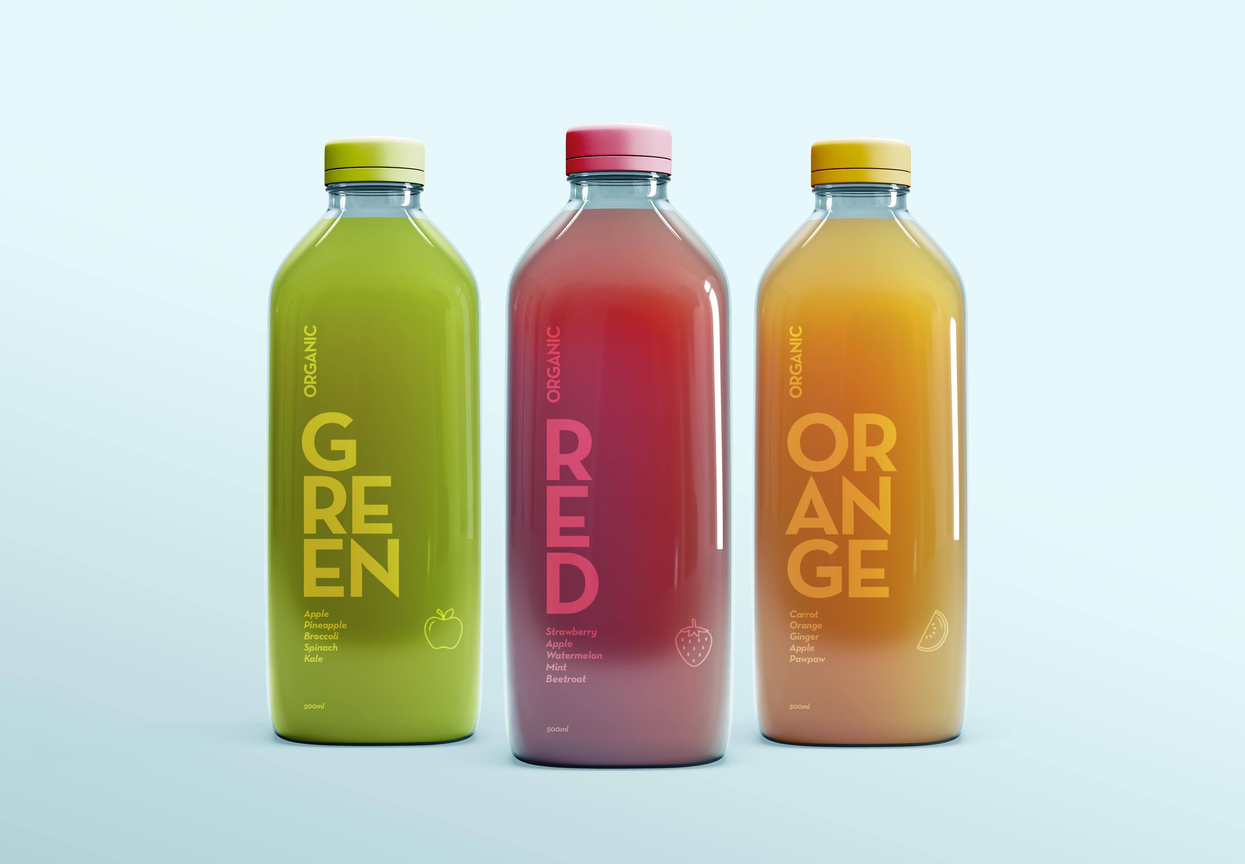 Juice Bottle Design London Dublin