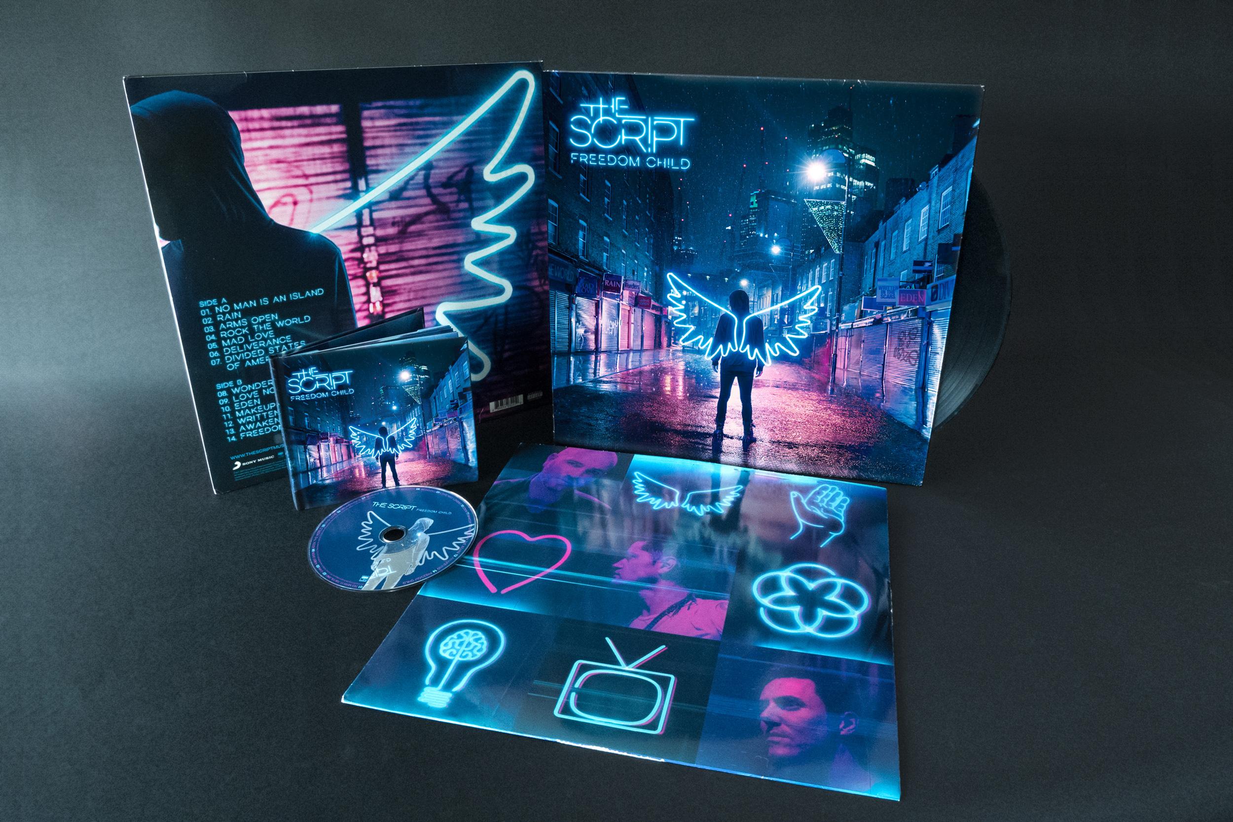 The Script Freedom Child Album Design Vinyl Dublin London